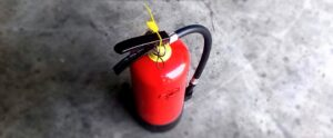 close up of a fire extinguisher